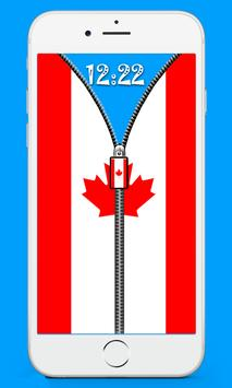 Canada Flag Screen lock apk screenshot