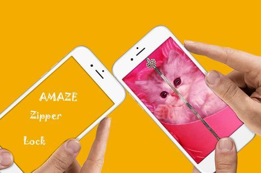 Cat  Zipper Lock apk screenshot