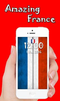 France Zipper lock apk screenshot