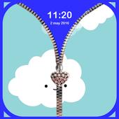 Sky zipper lock icon