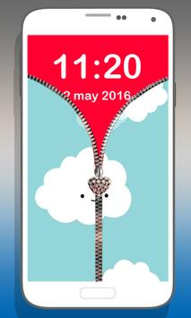 Sky zipper lock poster