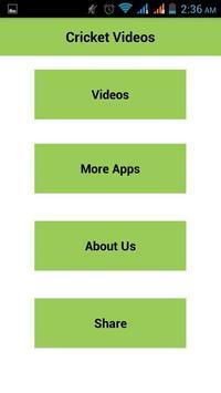 Cricket videos apk screenshot