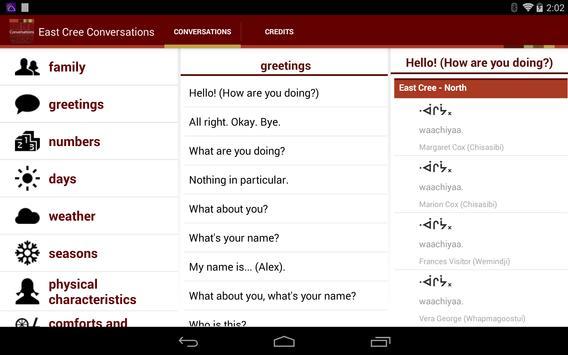 East Cree Conversation apk screenshot