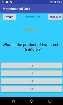 Mathematics Quiz App screenshot 2
