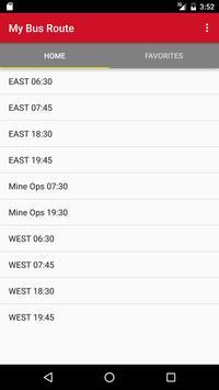 My Bus Route screenshot 1