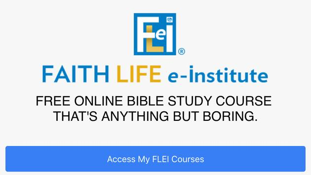 FLeI (Faith Life e-Institute) poster