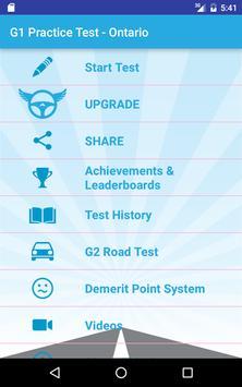 G1 Practice Test - Ontario apk screenshot