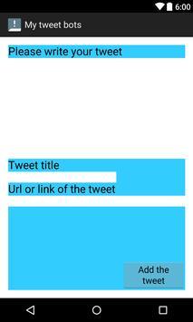 My tweet bots poster