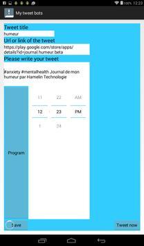 My tweet bots apk screenshot