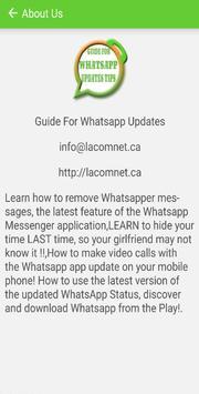 Guide For Whatsapp Updates & Tips screenshot 2