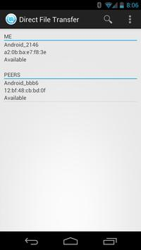 WiFi Direct File Transfer screenshot 1