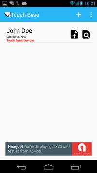 Touch Base screenshot 1