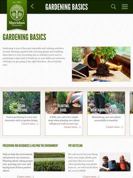 Sheridan Nurseries Garden App poster