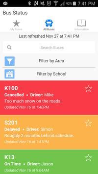 Red Deer Catholic Bus Status screenshot 1