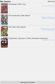 Comic Checklist Lite apk screenshot