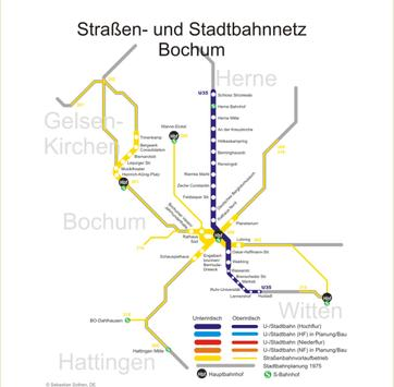 Bochum Metro Map screenshot 1