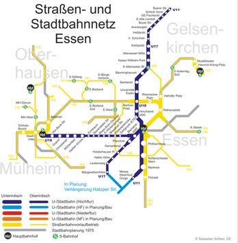 Essen S Bahn Map screenshot 1