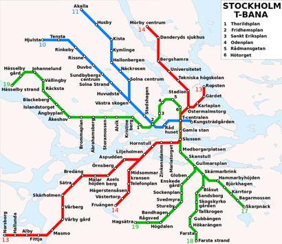 Stockholm Metro Map screenshot 1