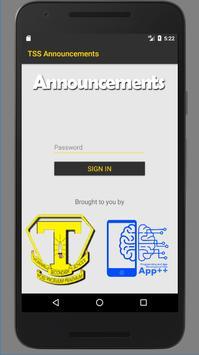 TSS Announcements screenshot 1