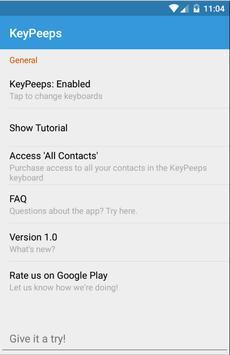 KeyPeeps - Contact Keyboard poster