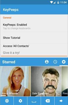 KeyPeeps - Contact Keyboard screenshot 1