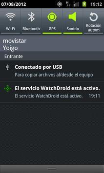WatchDroid captura de pantalla 1
