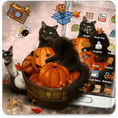 Kitty Pumpkin Theme icon