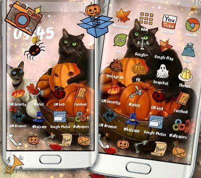Kitty Pumpkin Theme poster
