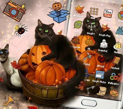 Kitty Pumpkin Theme screenshot 1