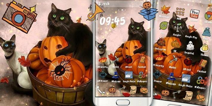 Kitty Pumpkin Theme screenshot 3