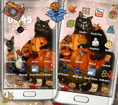 Kitty Pumpkin Theme screenshot 4