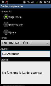 Bústia Suggeriments de Lleida apk screenshot