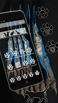 Cat Paw Scratch Theme apk screenshot