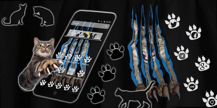 Cat Paw Scratch Theme apk screenshot