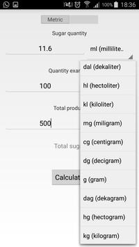 Sugar calculator screenshot 1