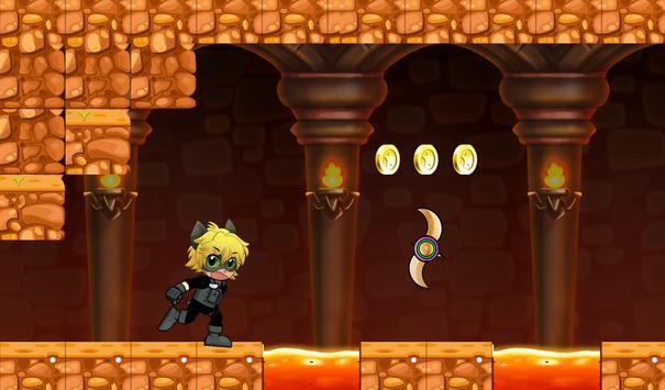 Adventure Cat Noir Ninja world apk screenshot