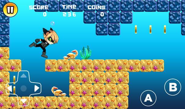 Running Cat Noir apk screenshot