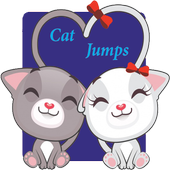 Cat jumps icon
