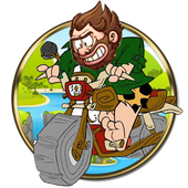 Angry caveman motocross story icon