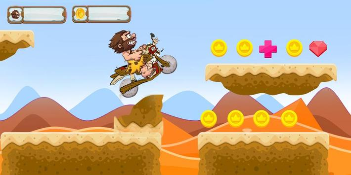 Angry caveman motocross story poster