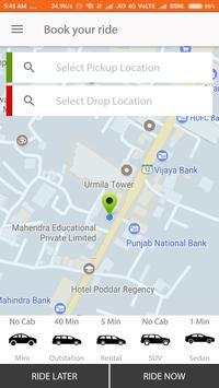 Cabooki Taxi Booking apk screenshot