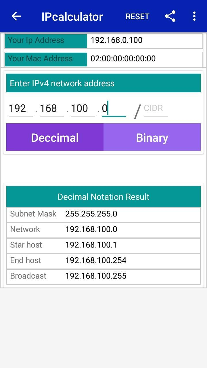 IP Calculator | CIDR | Network IP Subnet for Android - APK