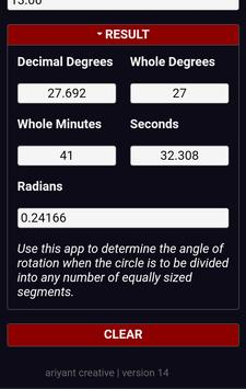 Rotary Table Calculator screenshot 1