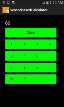 Sensor Based Calculator poster