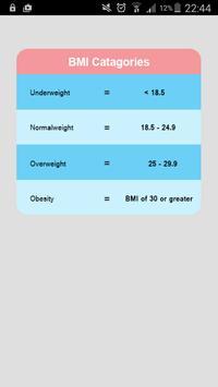 Calculator BMI IMC apk screenshot