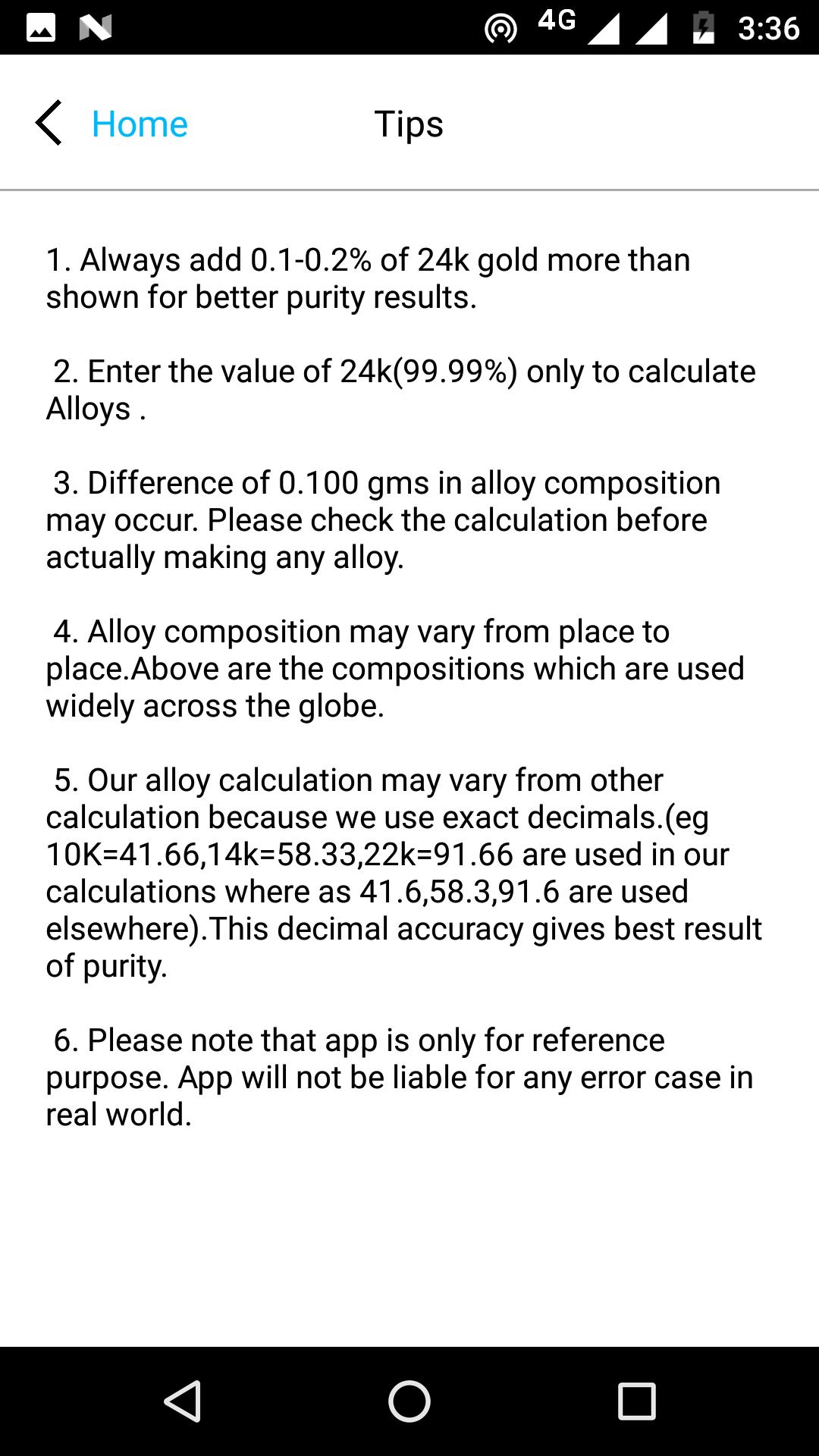 Karat/Alloy Calculator for Android - APK Download