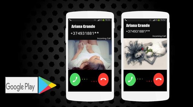 call From Ariana Grande prank apk screenshot