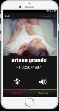 call From Ariana Grande fake poster