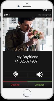 call form my boyfriend prank apk screenshot