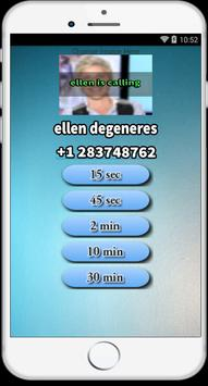 Call from Ellen show prank apk screenshot